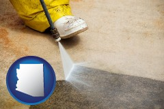 arizona pressure washing a concrete surface