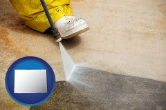 colorado pressure washing a concrete surface