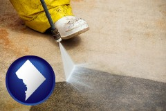washington-dc pressure washing a concrete surface