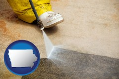 iowa pressure washing a concrete surface