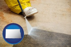 north-dakota pressure washing a concrete surface
