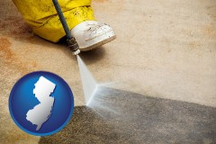 new-jersey pressure washing a concrete surface