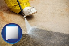 new-mexico pressure washing a concrete surface