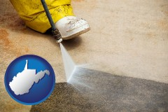 west-virginia pressure washing a concrete surface